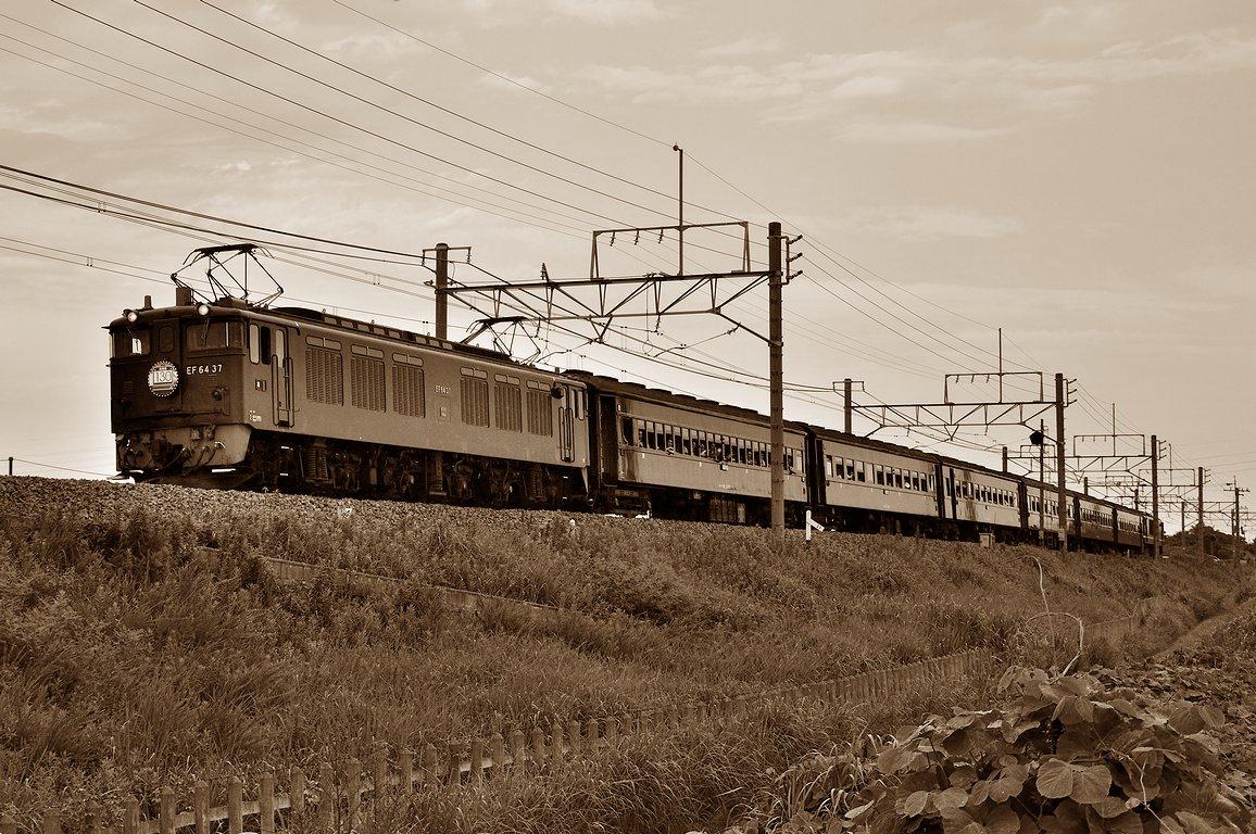 2013.07.28 1647_48(2) 岡部~本庄 「レトロ高崎線130周年」 EF64 37+在来形客車+EF64 1001s_se