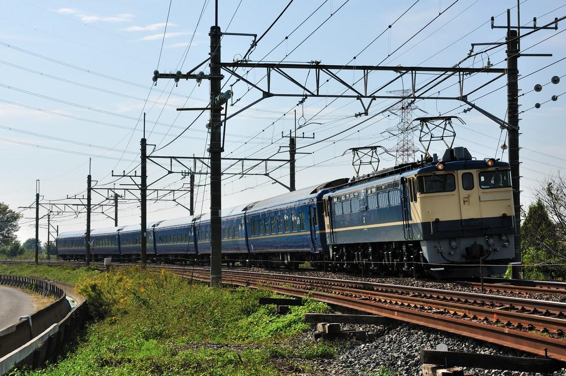 2013.11.01 1132_06(1) 栗橋~東鷲宮 試9501レ EF65 1103+24系s1.5