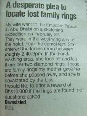 ring missing
