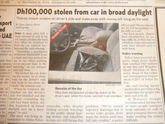 Dubai stolen