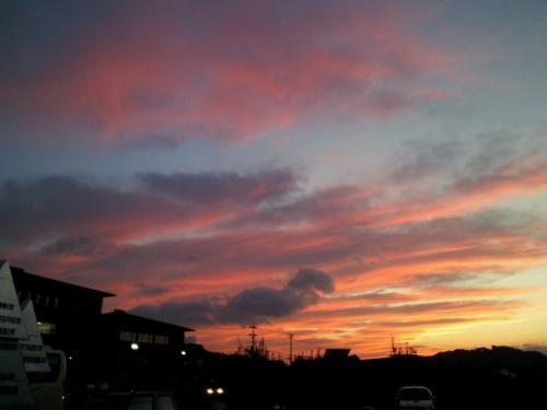 役場からの夕焼け(26.10.10)
