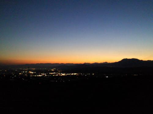 善光寺平の夜景(26.10.18)