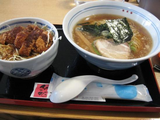 神岡スカイドーム  ミニソースカツ丼 とラーメン _1_