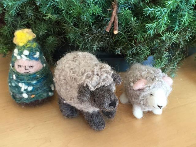 羊とツリー