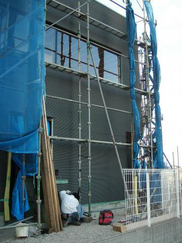 ガルバリウム鋼板張りの様子5