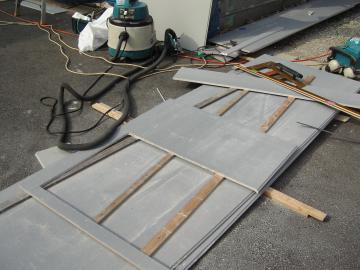 サイディング板張りの様子2