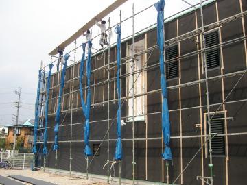 ガルバリウム鋼板張りの様子3