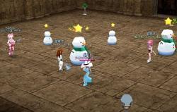 雪だるまIN王城影