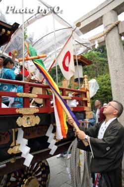 姥神大神宮渡御祭 下町巡幸 先山到着 清正山