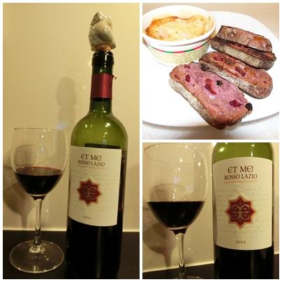 レトロのパンとミニグラタンとワイン