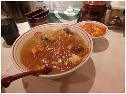 蒙古タンメンとプチ麻婆丼