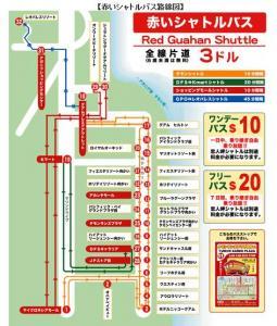 赤いシャトルバス路線図