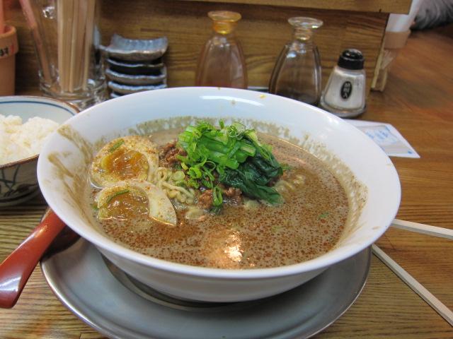 激辛黒担々麺+煮玉子