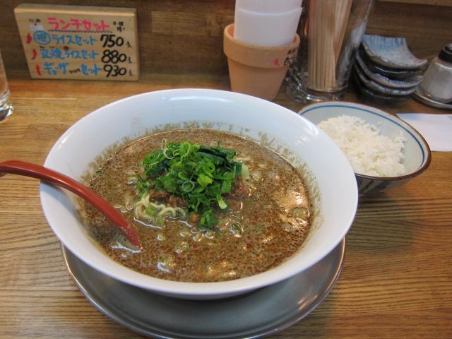 超辛黒坦々麺+ライス