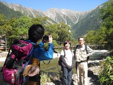 2c 梓川から穂高連峰