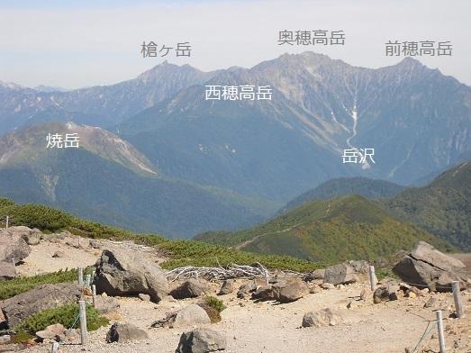 7 穂高連峰と槍ケ岳・説明