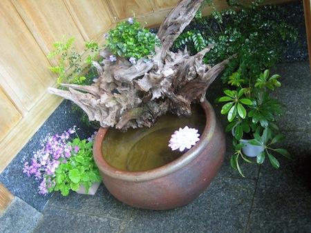 玄関の水盤