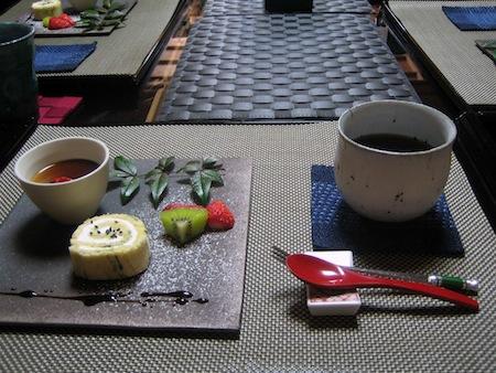 デザートと薬膳茶