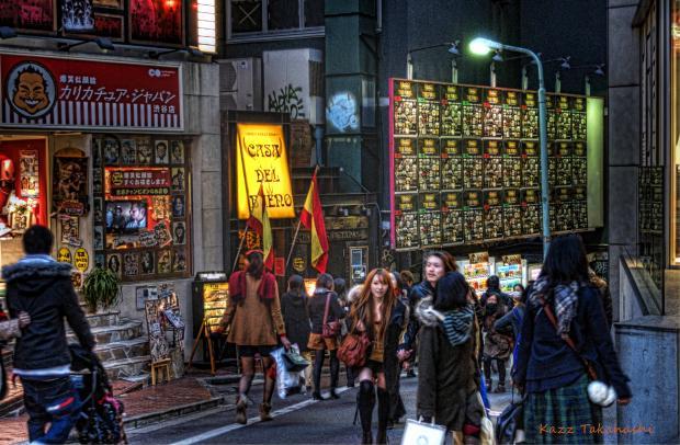HDR-スペイン坂-渋谷