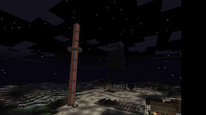 溶岩タワー 夜