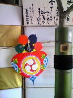 1JR丸亀駅の柳もち飾り5