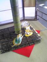 1JR丸亀駅の柳もち飾り2