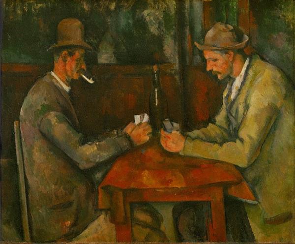【カード遊びをする二人の男たち】 ポール・セザンヌ