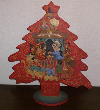 トールペイントのクリスマスツリー