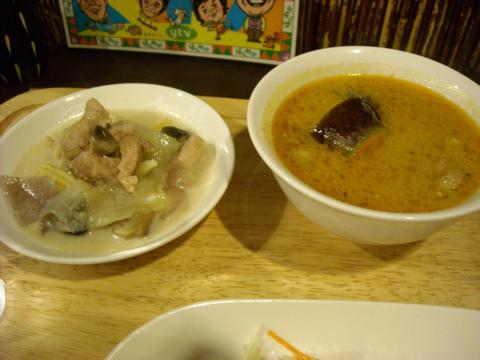 カレーと鶏と野菜のココナッツミルク風味炒め