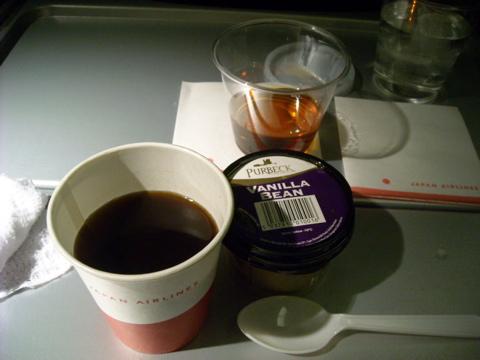 コーヒーとブランデ