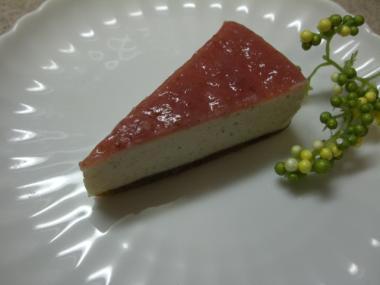 いちご酵素ジュースのチーズケーキ2