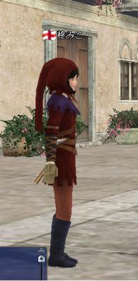 狩人の服 赤