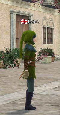 狩人の服 緑