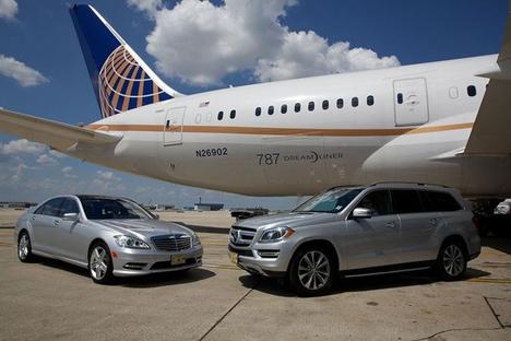 ユナイテッド航空は、メルセデス・ベンツを使用した空港内送迎サービスを拡大!