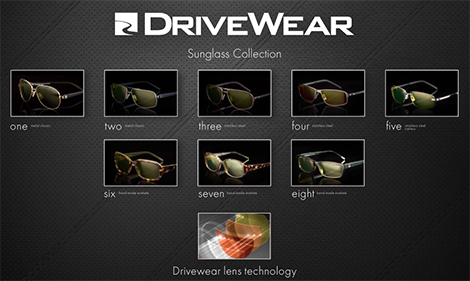 ドライブウェアデザイナーサングラスコレクション