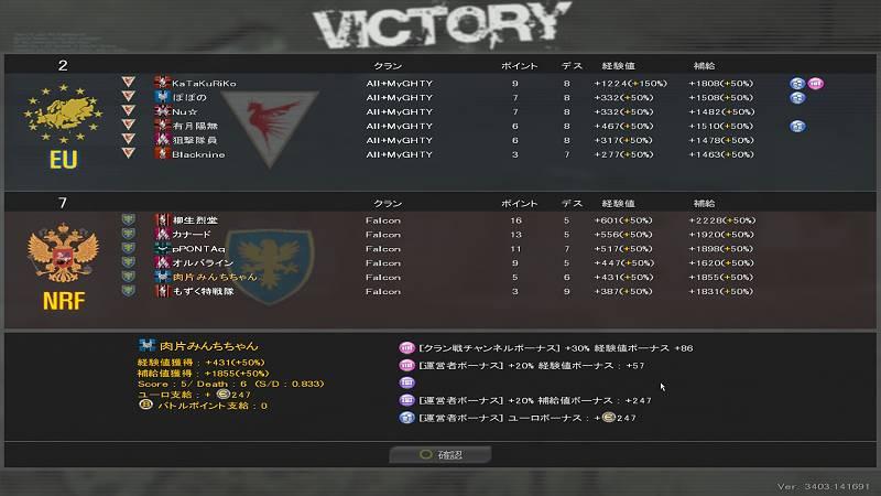 AVA Falconクラン戦