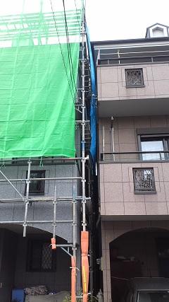 未来住建 外壁塗装・足場①