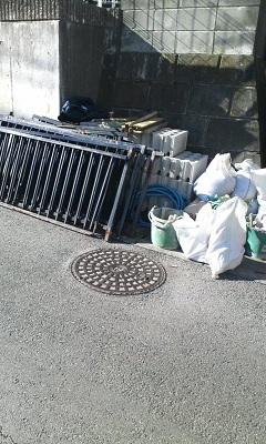 未来住建 フェンス取付工事①