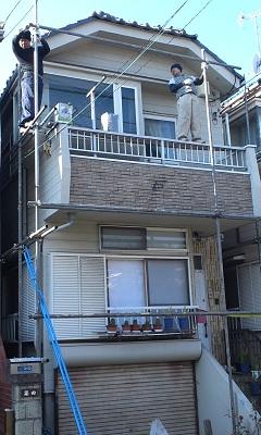 未来住建 外壁塗装1日目①
