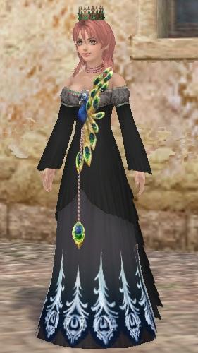 孔雀ドレス(黒)01