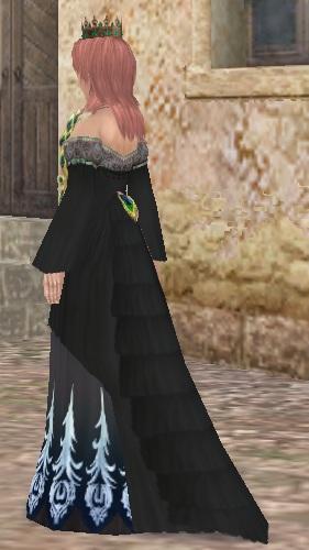 孔雀ドレス(黒)03
