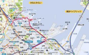石川町→桜木町地図