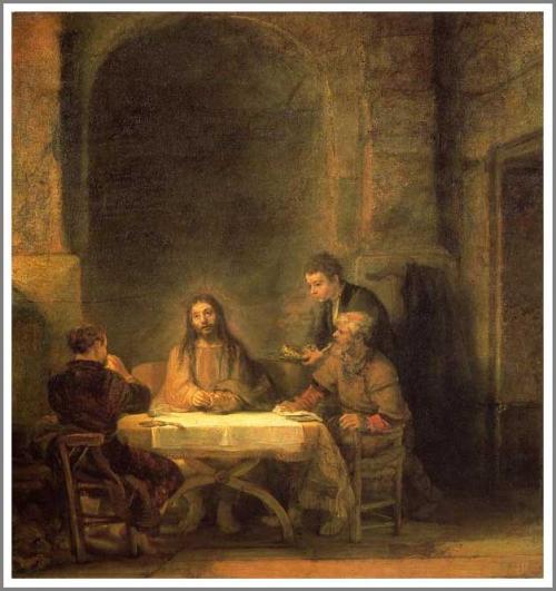 レンブラント エマオの晩餐