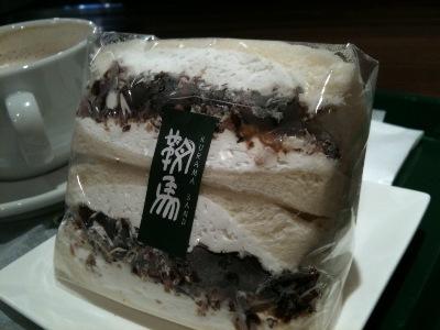 コーヒーゼリー納豆サンド
