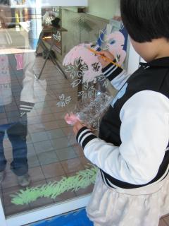 ガラス絵・桜②
