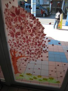 ガラス絵・桜⑤