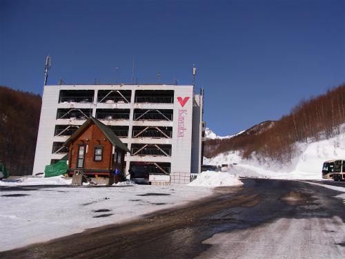 川場スキー場の駐車場