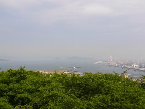 亀居城からの眺め