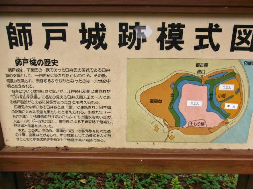 師戸城縄張り図