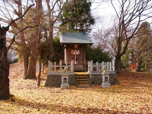一関城本丸の祠